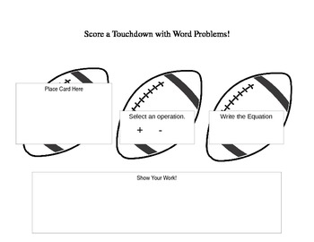 Score a Touchdown with Word Problems!