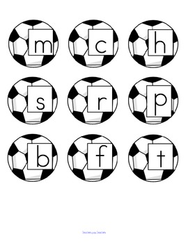 Soccer Score a Word! - blend initial sound CVC families -at, an, ad. FREE