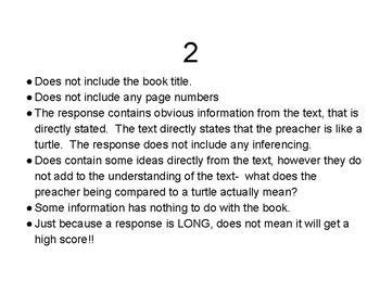 Score the Reading Responses!