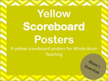 Scoreboard - Whole Brain Teaching (Yellow)