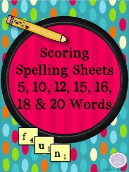 Scoring Spelling Sheets