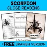 Scorpion Close Reading Passage Activities