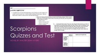 Scorpions - Chapter Quizzes and Novel Test