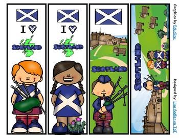 Scotland Bookmarks -  4 Designs