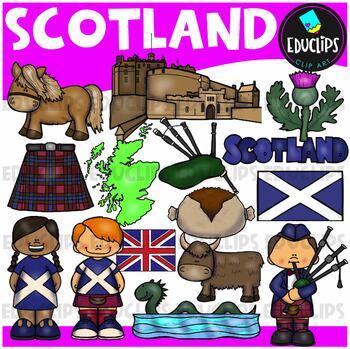 Scotland Clip Art Bundle {Educlips Clipart}