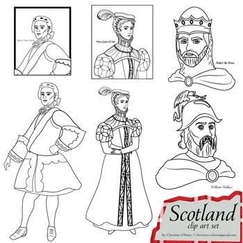 Scotland Clip Art Set