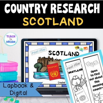Scotland Country Research Project, PBL:Interactive Lapbook and Notebook
