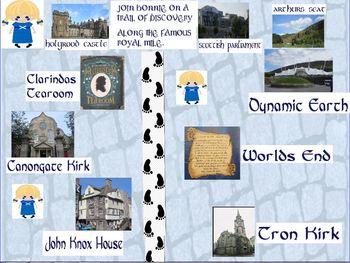 Scotland Discovery trail along the Royal Mile Edinburgh with Bonnie