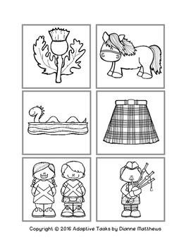 Scotland File Folder Matching