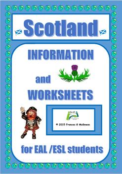Scotland Information and worksheets for EAL/ESL/ELL/ELD/EFL