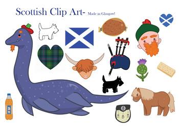 Scotland/ Scottish clipart