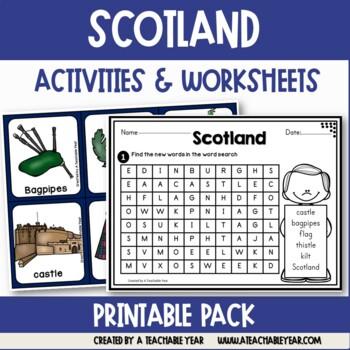 Scotland- Vocabulary Pack