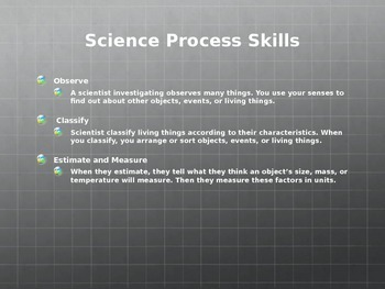 Scott Foresman 4th Grade Science Introduction PowerPoint