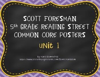 Scott Foresman 5th Common Core Posters Unit 1
