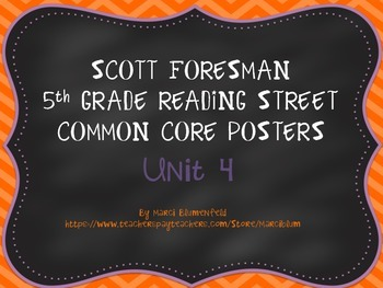 Scott Foresman 5th Common Core Posters Unit 4