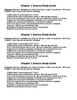 Scott Foresman 5th Grade Science Ch. 1 Study Guide