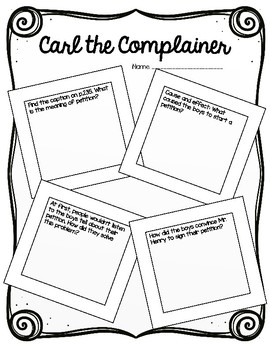Scott Foresman: Carl the Complainer Resources and Printables!