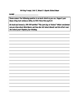 Scott-Foresman Coyote School News Writing Prompt on Drawing Conclusions