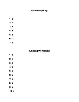 Scott-Foresman Encantado Vocab and Amazing Words Quiz