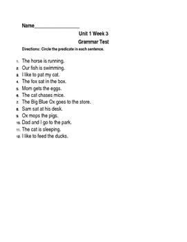 Scott Foresman Grammar Tests