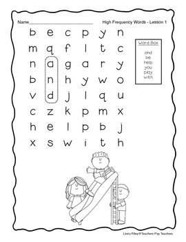 Scott Foresman Journeys High Frequency Word Searches Unit 1
