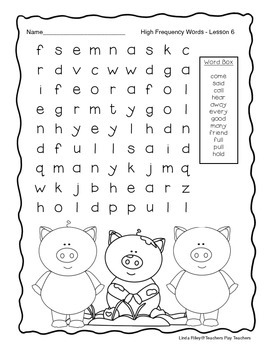 Scott Foresman Journeys High Frequency Word Searches Unit 2