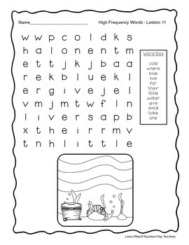 Scott Foresman Journeys High Frequency Word Searches Unit 3