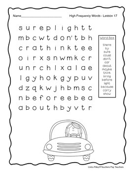 Scott Foresman Journeys High Frequency Word Searches Unit 4