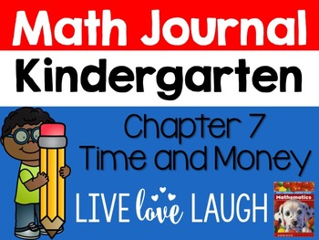 Scott Foresman Kindergarten Math Journal {Chapter 7 Time and Money}