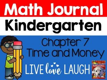 Scott Foresman Kindergarten Math Journal {Chapter 7 Time a
