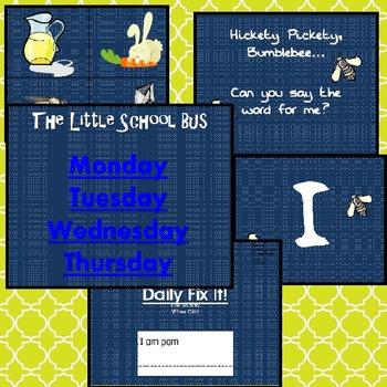 The Little School Bus SF.K.1.1 Pre-lesson PPT