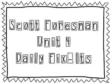 Scott Foresman - Kindergarten - Unit 4 Daily Fix-Its