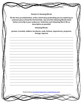 Scott-Foresman Lewis and Clark and Me Vocab/Amazing Words Quiz