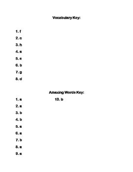 Scott-Foresman Moonwalk Vocab and Amazing Words Quiz