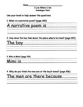Scott Foresman Reading Street 08 Gr. 2 Unit 4 Story 4 Comprehension Questions