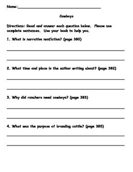 Scott Foresman Reading Street 08 Gr. 2 Unit 6 Story 4 Comprehension Questions
