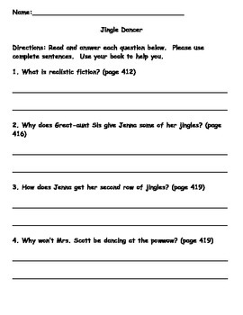 Scott Foresman Reading Street 08 Gr. 2 Unit 6 Story 5 Comprehension Questions