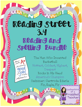 Scott Foresman Reading Street 3.4  Reading and Spelling Bundle