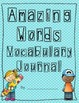 Scott Foresman Reading Street Amazing Words Vocabulary Journal