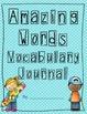 Scott Foresman Reading Street Amazing Words Vocabulary Journal