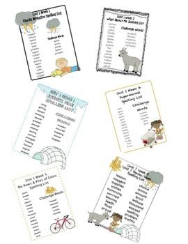 Scott Foresman Reading Street CC Unit 1 Spelling Lists