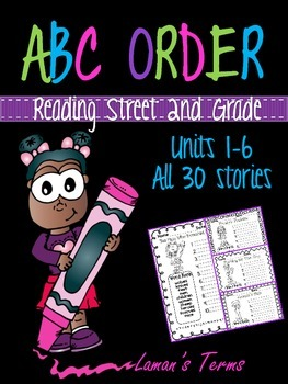 Scott Foresman Reading Street Common Core 2nd Grade Spelling ABC Order Units 1-6