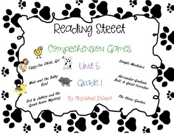 Scott Foresman Reading Street Common Core Comprehension Games Unit 5 1st Grade