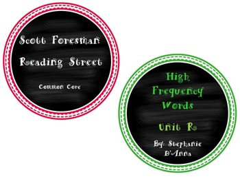 Scott Foresman Reading Street Common Core High Frequency Words Unit R