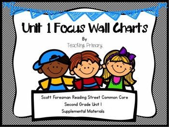 Reading Street Common Core Unit 1 Focus Wall Second Grade The Twin Club, etc.
