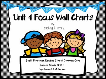 Reading Street Common Core Unit 4 Focus Wall Second Grade A Froggy Fable, etc.