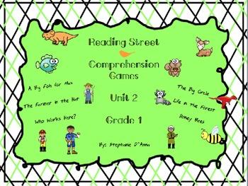 Scott Foresman Reading Street Comprehension Games Unit 2 Common Core 1st Grade