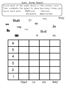 Scott Foresman Reading Street-First Grade Units1-5 Sight Word Graphing Bundle