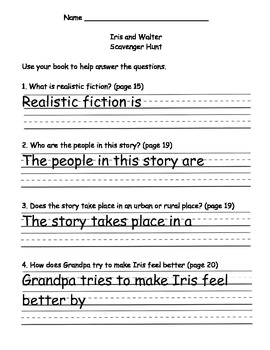 Scott Foresman Reading Street Gr. 2 Unit 1 Story 1 Comprehension Questions