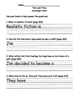 Scott Foresman Reading Street 08 Gr. 2 Unit 2 Story 1 Comprehension Questions